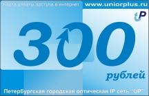 Карта номиналом 300 рублей